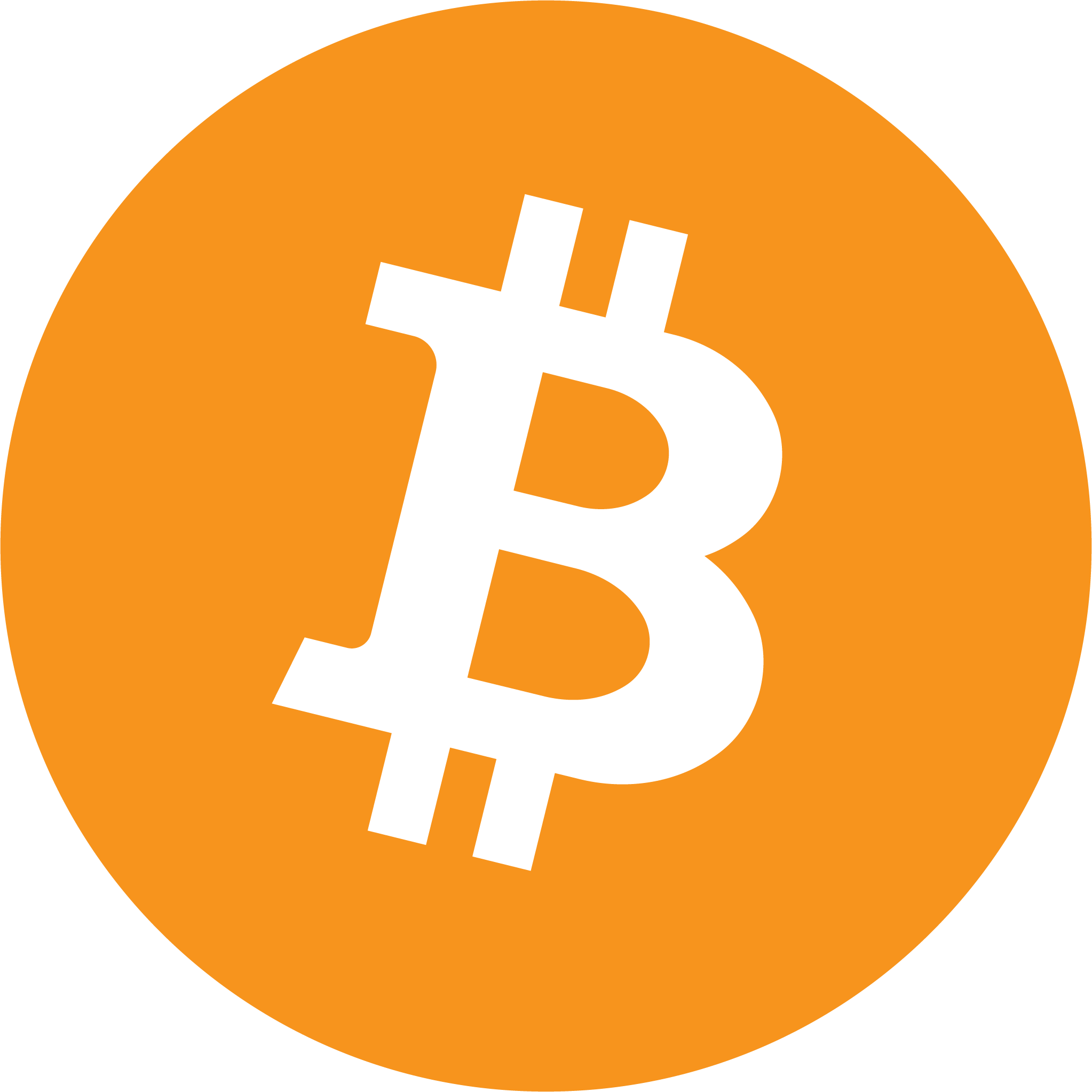 completed bitcoin logo